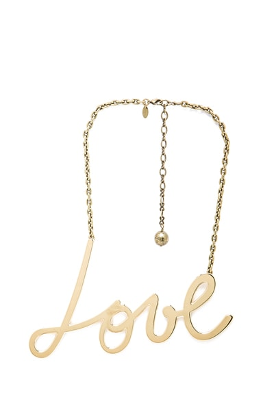 Love Pendant Brass Necklace