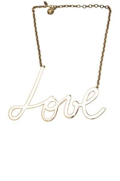 Brass Love Necklace