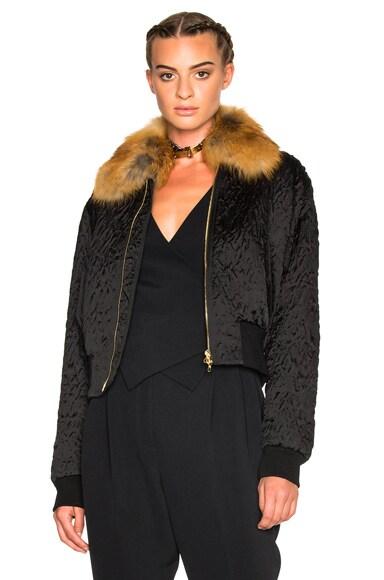 Fur Collar Bomber Jacket