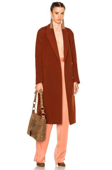 Coat in Ginger Red