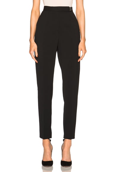 High Waist Wool Trousers