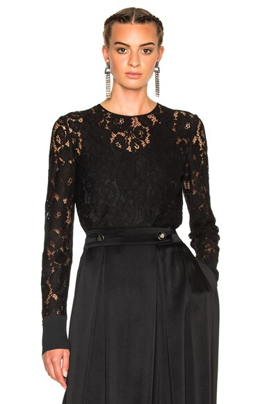 Lace Blouse with Cuff Detail