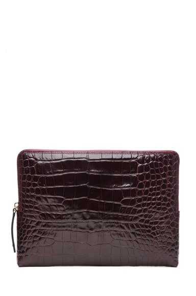 Zipper Crocodile Sac Pochette