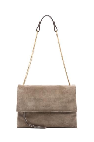 Medium Velvet Calfskin Foldover Bag