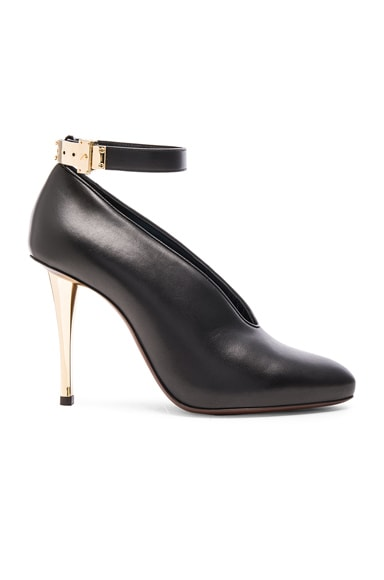 Leather Ankle Strap & Safe Lock Pumps