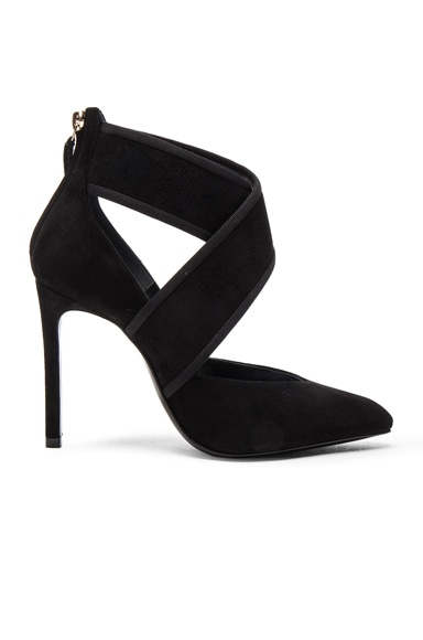 Crisscross Suede Pumps