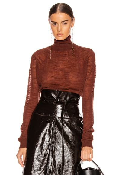 Light Turtleneck Top