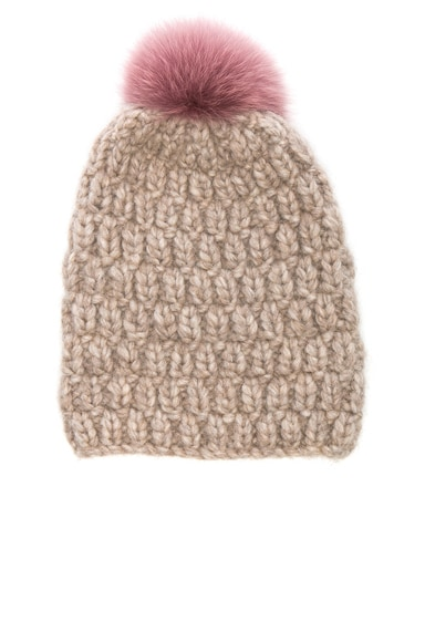 for FWRD Hopscotch Beanie With Fox Fur Pom