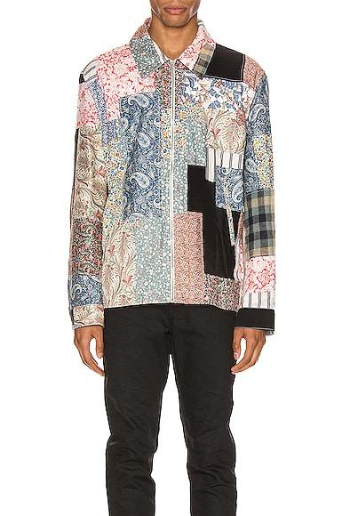 Zip Patchwork Jacket