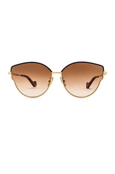 Loewe Sunglasses METAL LEATHER SUNGLASSES