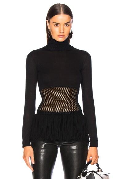 Mesh Waist Sweater
