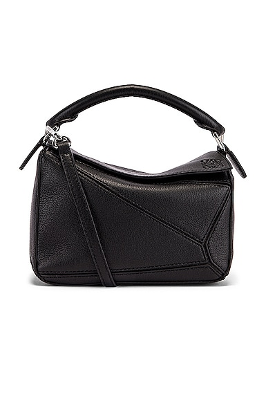 Loewe Puzzle Mini Bag In Black