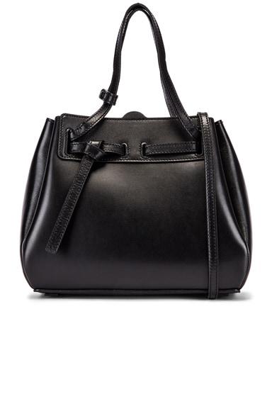 Loewe Mini Lazo Leather Top Handle Bag In Black