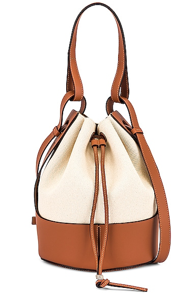 Loewe Balloon Bag in Brown,White