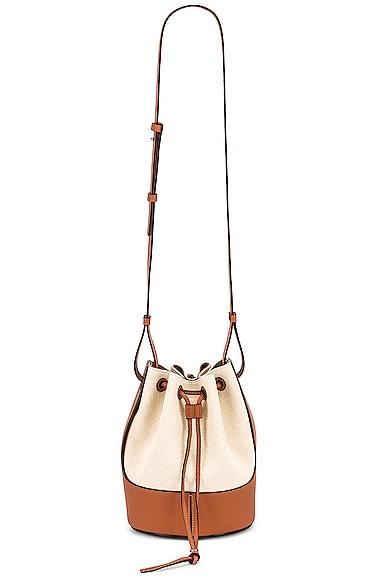 Loewe Balloon Small Bag in Brown,White