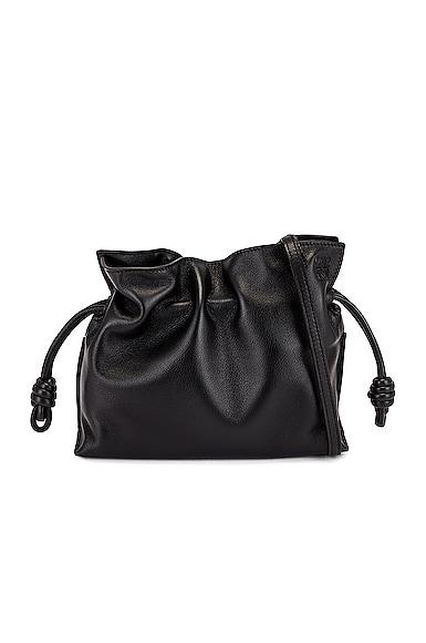 Loewe Flamenco Clutch Mini Bag in Black