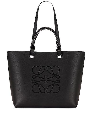 Loewe Anagram Tote Bag in Black