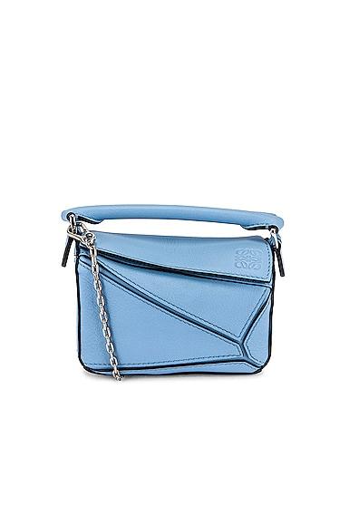Loewe Puzzle Nano Bag In Blue
