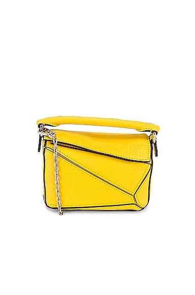 Loewe Puzzle Nano Bag in Yellow