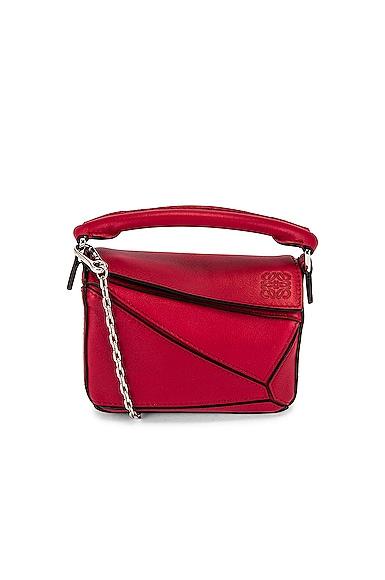 Loewe Puzzle Nano Bag in Red