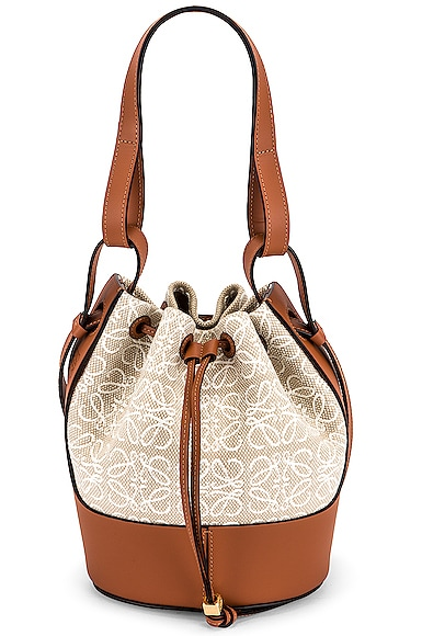 Loewe Balloon Anagram Small Bag in Tan