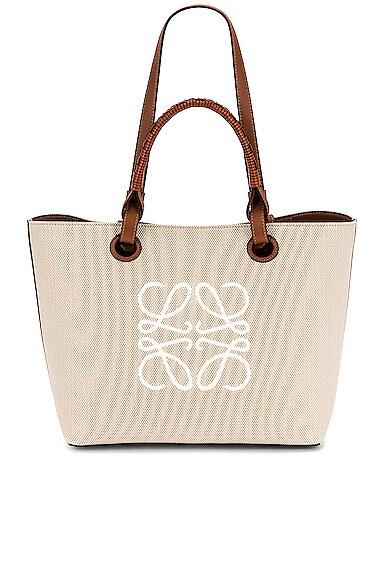 Loewe Anagram Tote Small Bag in Beige
