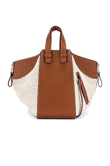 Loewe Hammock Anagram Small Bag in Brown