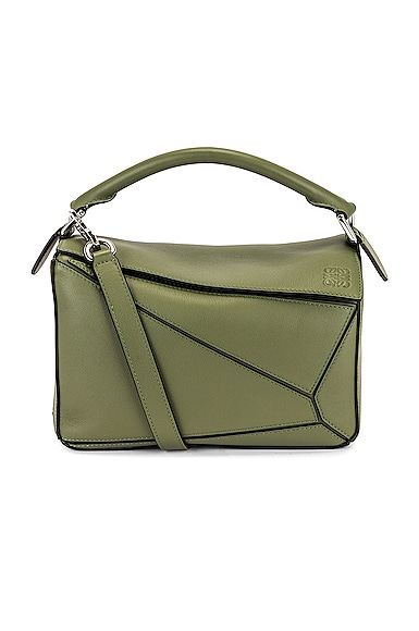Loewe Puzzle Small Bag in Green