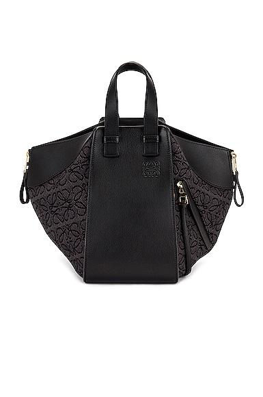 Loewe Hammock Anagram Small Bag in Black