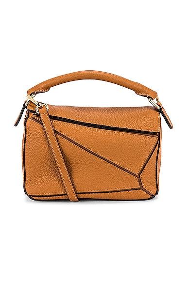 Loewe Puzzle Mini Bag in Tan