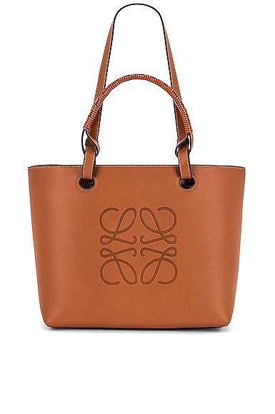Loewe Anagram Tote Small Bag in Tan