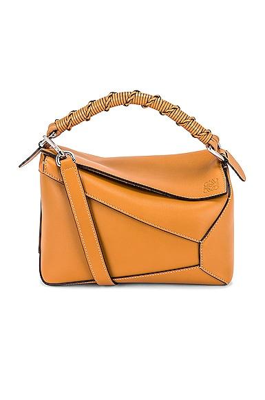 Loewe Puzzle Edge Small Bag in Tan