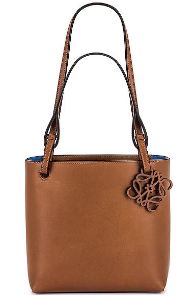 Loewe Double Handle Tote Cubi Bag in Tan