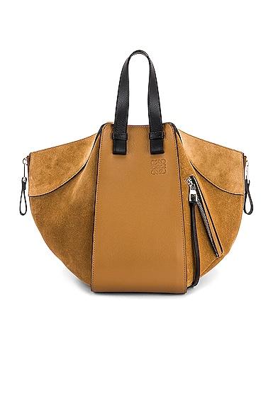 Loewe Hammock Small Bag in Tan