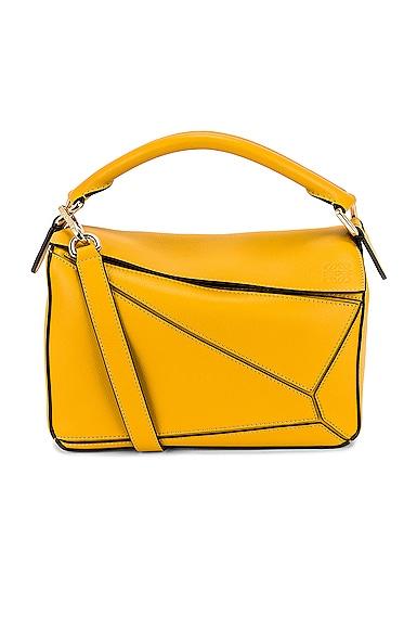 Loewe Puzzle Small Bag in Mustard