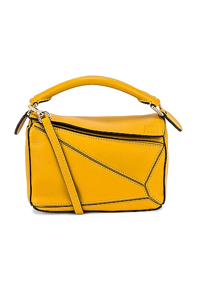 Loewe Puzzle Mini Bag in Mustard