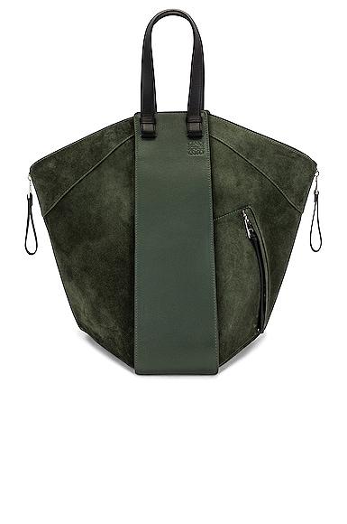 Loewe Hammock Tote Bag in Army