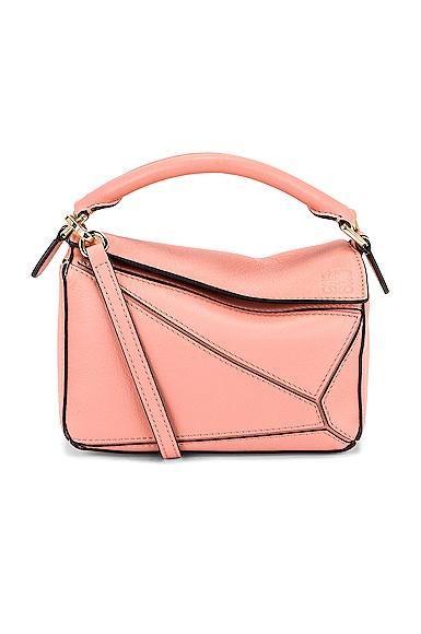 Loewe Puzzle Mini Bag in Pink