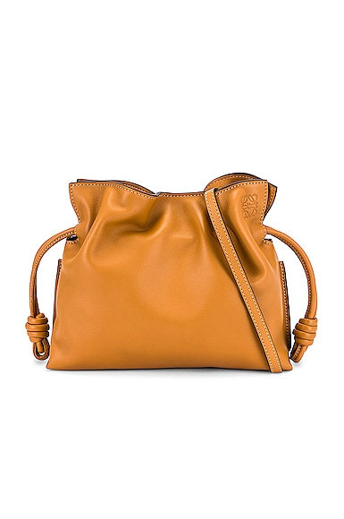 Loewe Flamenco Clutch Mini Bag in Tan