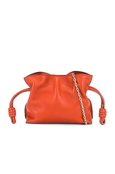 Loewe Flamenco Clutch Nano Bag in Orange