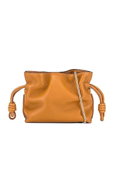 Loewe Flamenco Clutch Nano Bag in Tan