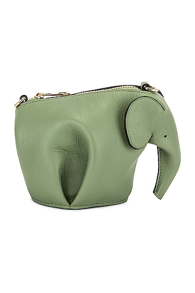 Loewe Elephant Pouch Bag in Sage