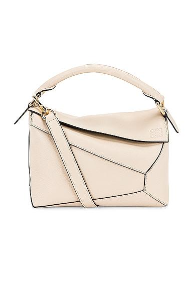 Loewe Puzzle Edge Small Bag in Cream