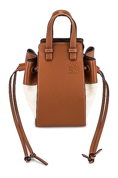 Loewe Hammock Anagram Mini Bag in Tan,Cream