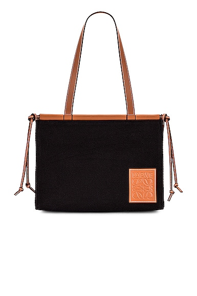 Loewe Cushion Tote Small Bag in Black