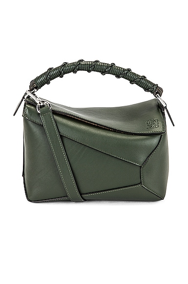 Loewe Puzzle Edge Small Bag in Army