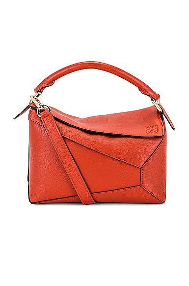 Loewe Puzzle Edge Small Bag in Orange