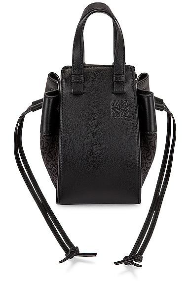 Loewe Hammock Anagram Mini Bag in Black