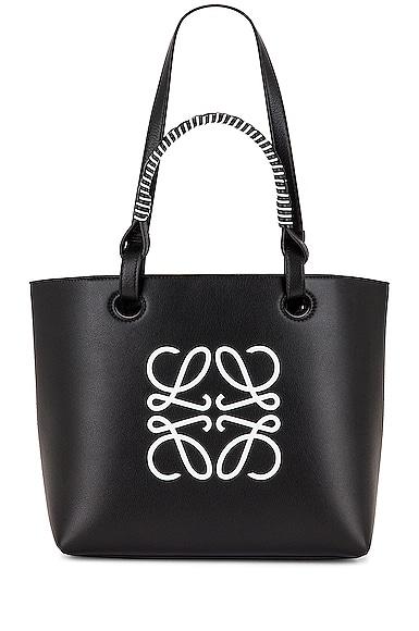 Loewe Anagram Small Tote Bag in Black