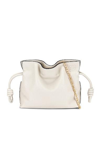Loewe Flamenco Clutch Nano Bag in White